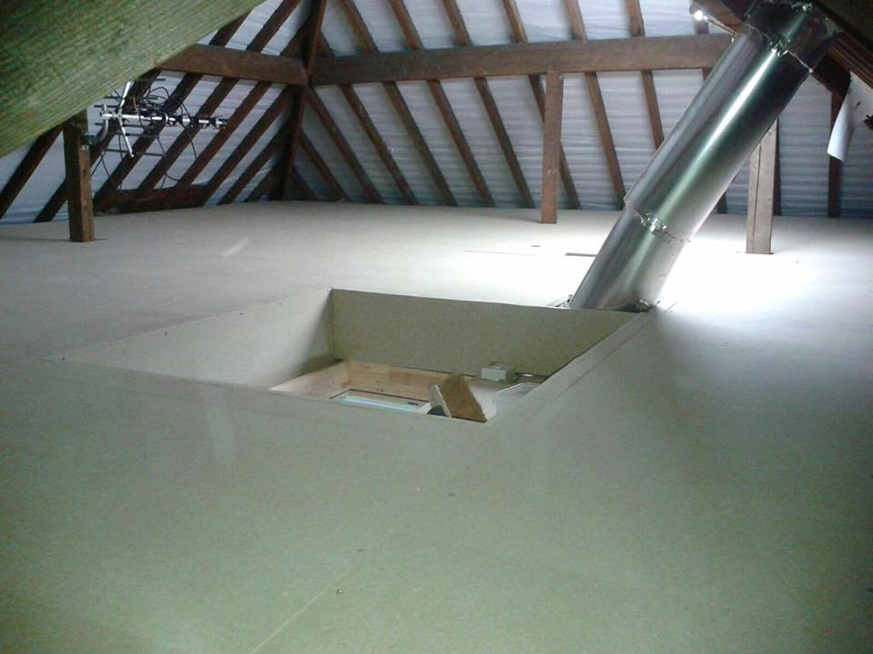 Full Loft boarding in an older house